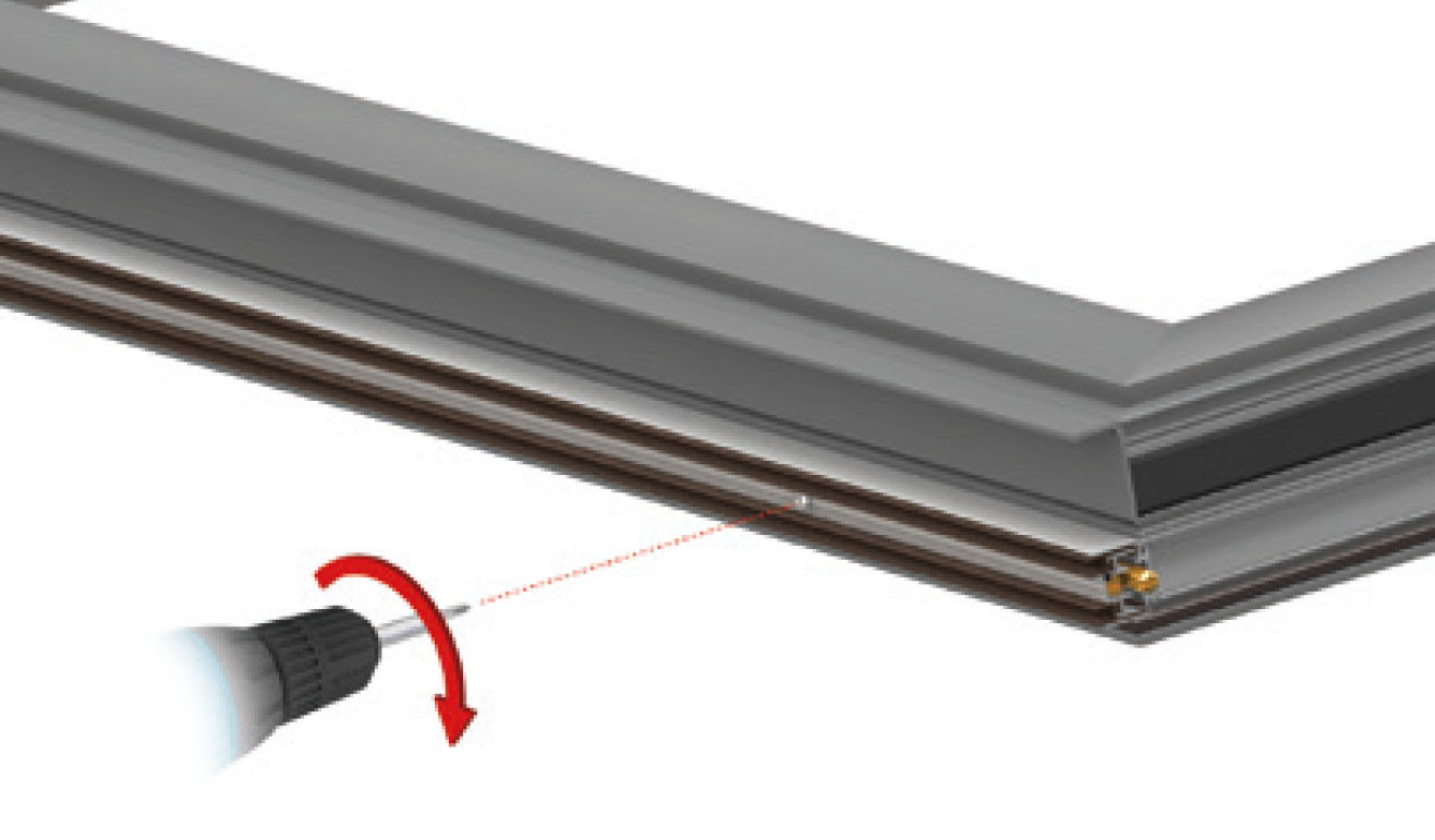 Standard fastening system for drop down seal Serie Special AE16
