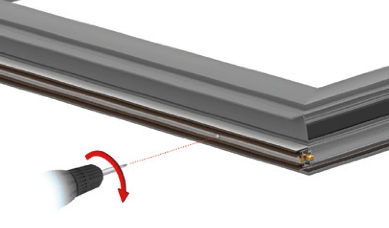 Sistema di fissaggio standard per il paraspifferi Serie Special AE16
