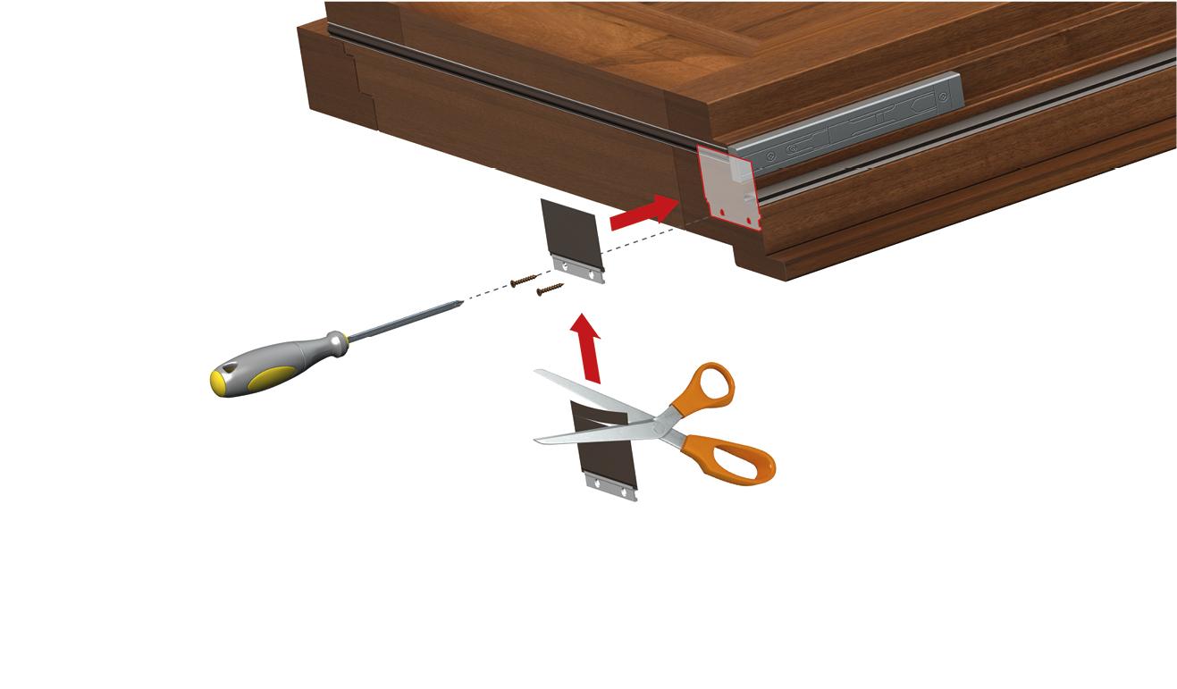 Sistema di fissaggio standard per il paraspifferi Serie Universal CS040