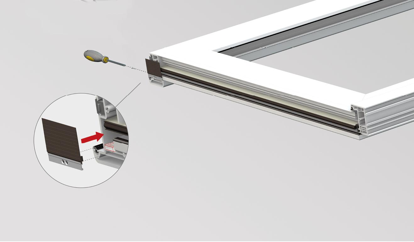 Sistema di fissaggio standard per il paraspifferi Serie Universal CS065