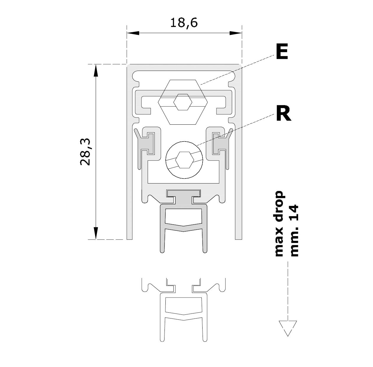 Misure standard (mm) per il paraspifferi Serie No Sound Isola